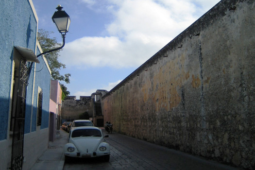 Calle 18 in Campeche, The Yucatán